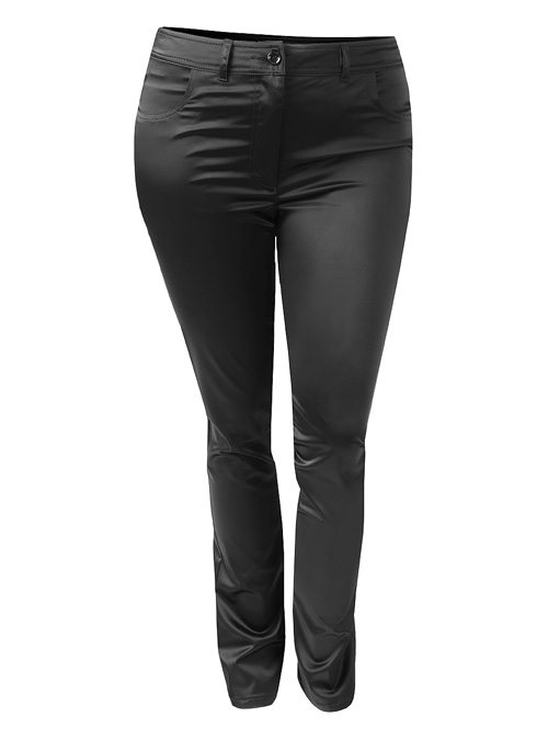 Satinhose, Shiny, Black