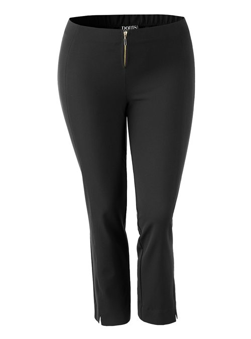 Complementing Pants, Cropped Classic, Black