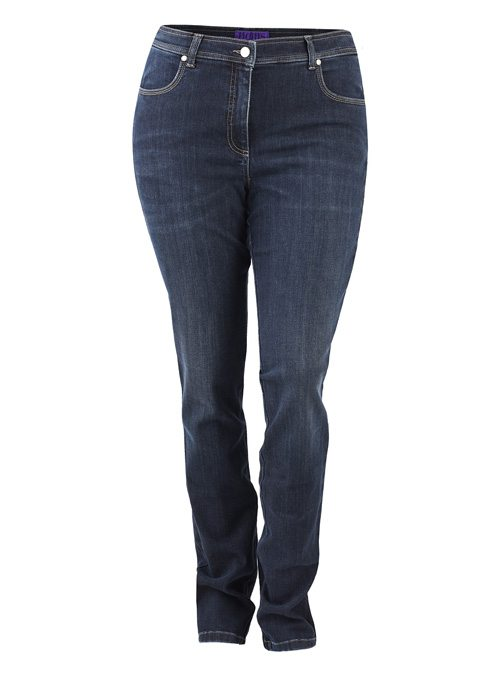 Fitted-Non-Fitted Jeans, Dark Rinsed
