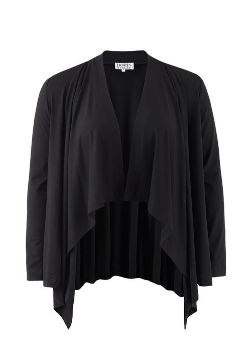 Waterfall Jacket, Black, Premium Jersey