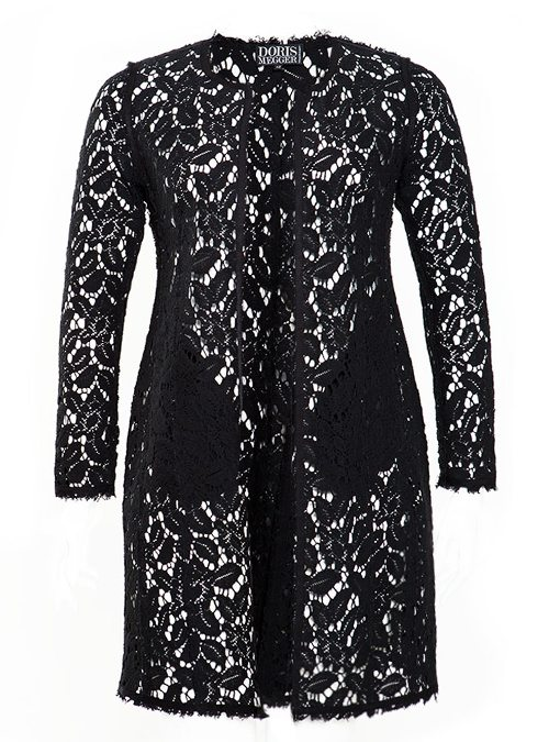 Lace Coat, Black - Doris Megger - Made in Germany
