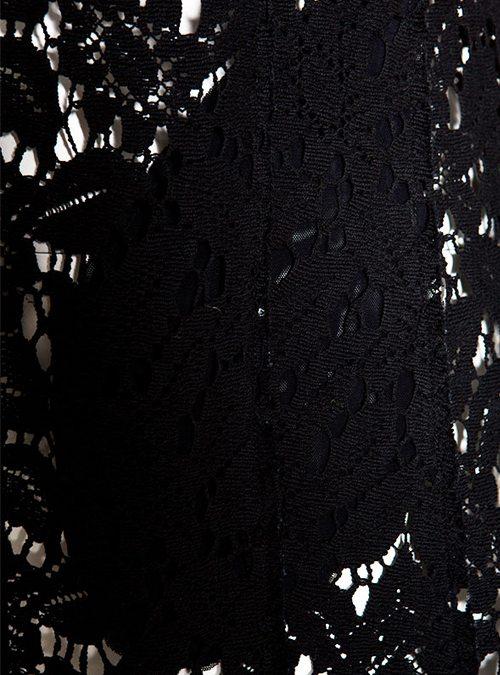 lace coat black doris megger. Black Bedroom Furniture Sets. Home Design Ideas