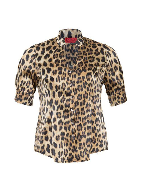 Blouse High Collar, Luxury Leo, Silk