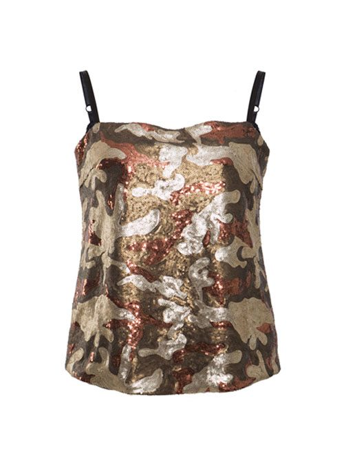 Pailletten Top Glam on me Camouflage