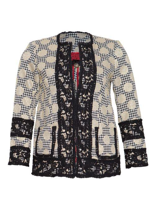 Jacket Bijou, Lace and golden Dots