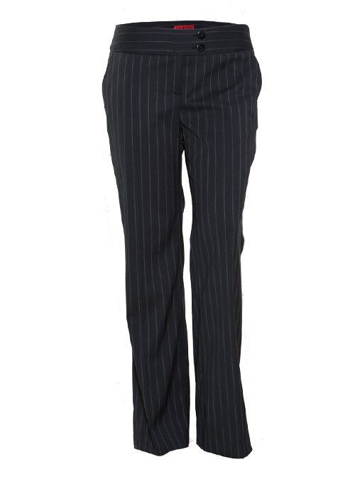 Marlene Hose, Slim striped, black and grey