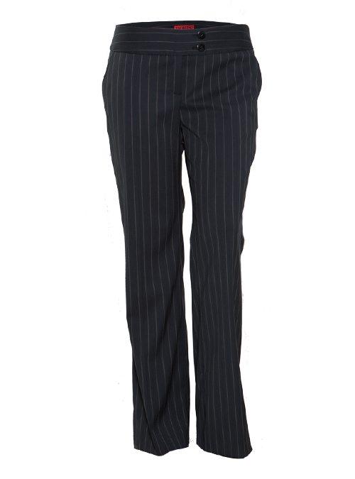 Marlene Hose, Slim striped, black and grey