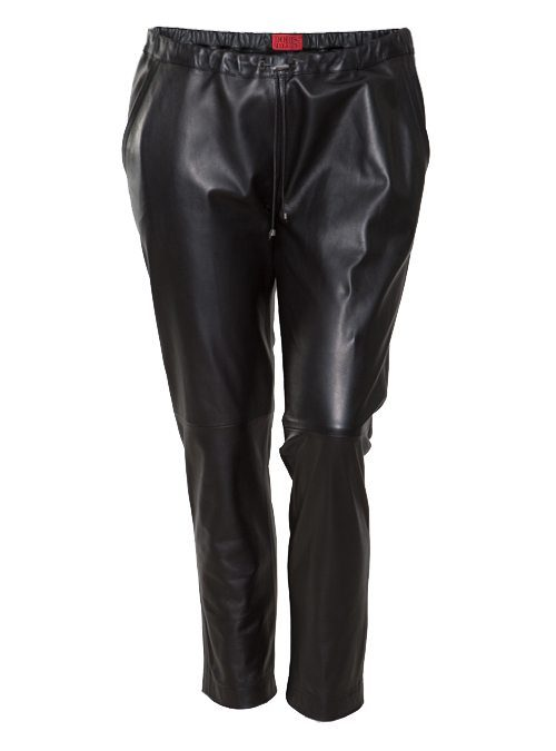 Leather Trackpants, Lammnappa, Black