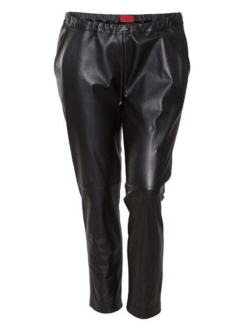 Leather Trackpants, Lammnappa, Black