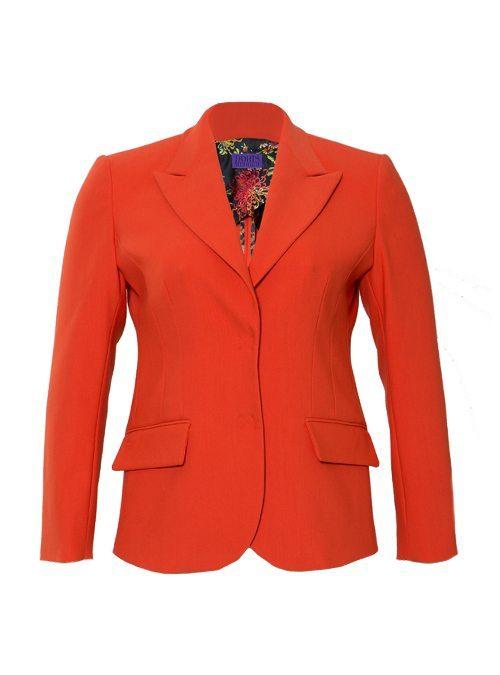 Tailored Blazer, Classic Cut Revival, Karmin
