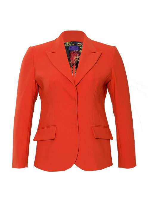 Tailored Blazer, Classic Cut Revival, Karmin