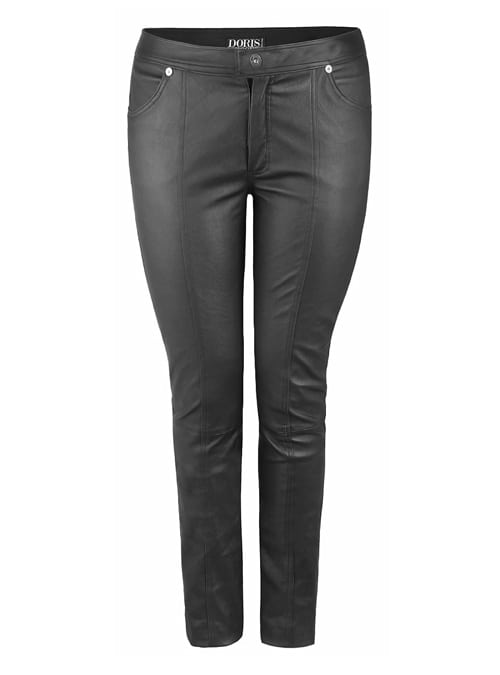 Stretch Leather Pant, Slim Fit Black