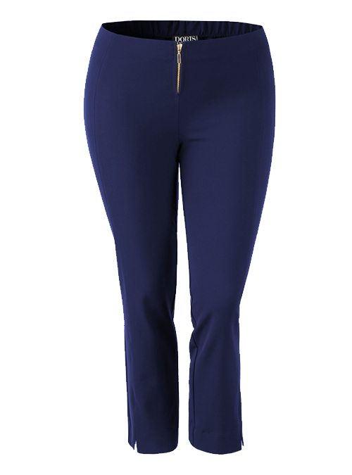 Complementing Pants, Cropped Classic, Blue