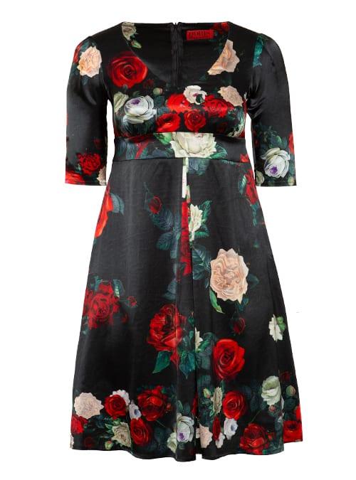 Silkdress Crimson & Blanche Rose