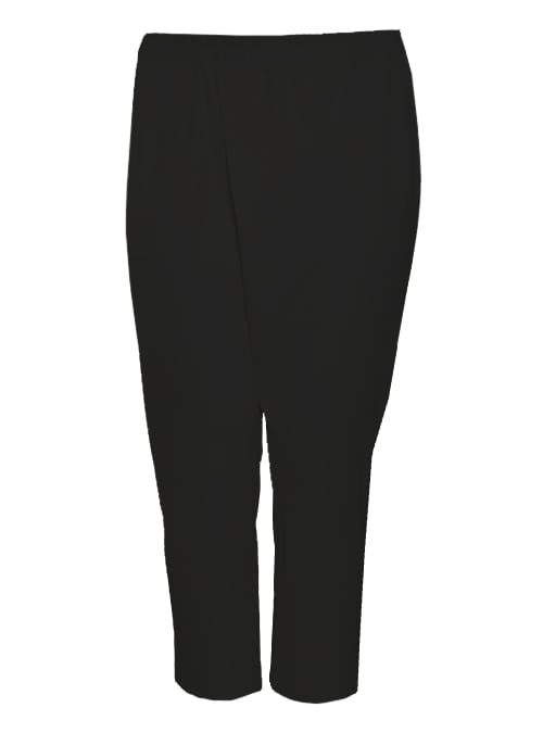 Cropped Crosspants, Black Jersey Version -Made in germany