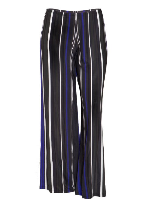 Wide Leg Palazzo Pants, Striped