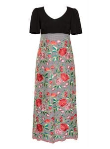 Maxi Variety, Bellsleeve Dress, Embroidered