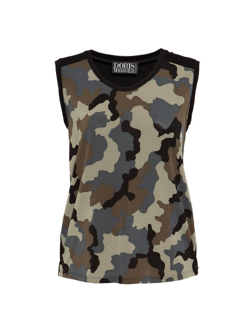 Two-side Top, Front Print, Classic Camouflage