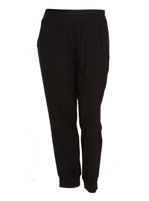 Casual Glam Pants, Jersey, Black