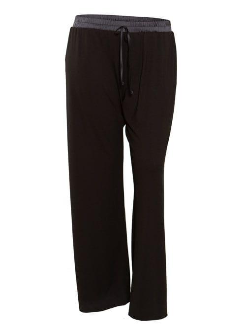 Jerseypants, Satin Waistband, Wide Leg