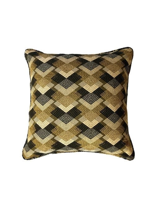 One and a half Pillow, Bohemian Rhapsody, Large, Gold Geometric