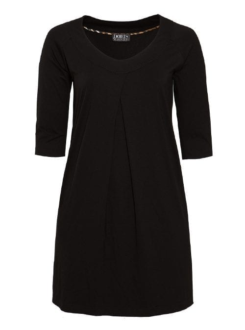 Tunique Dress, Black, Premium Jersey