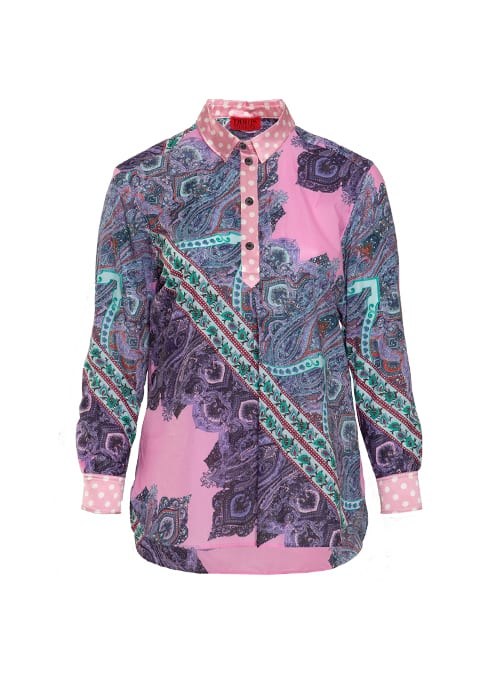 Best Blouse ever, Long back, Paisley Rose