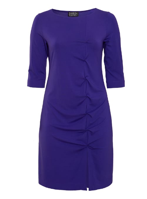 W-Dress Clean Cut, Shaped Fit, Purple