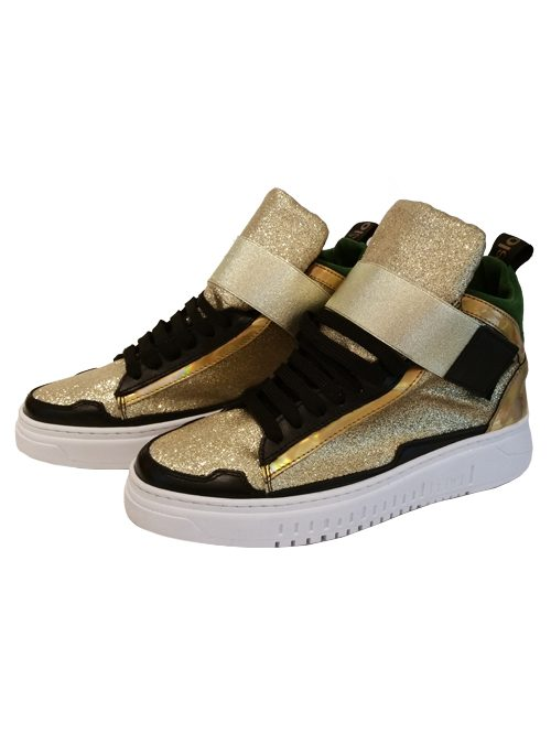 High Sneaker, Gold Fusion