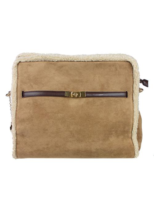 Veloursleather Tote Bag, Soft Tan