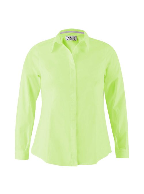 Classic Blouse, Smaller Collar, Lime Green
