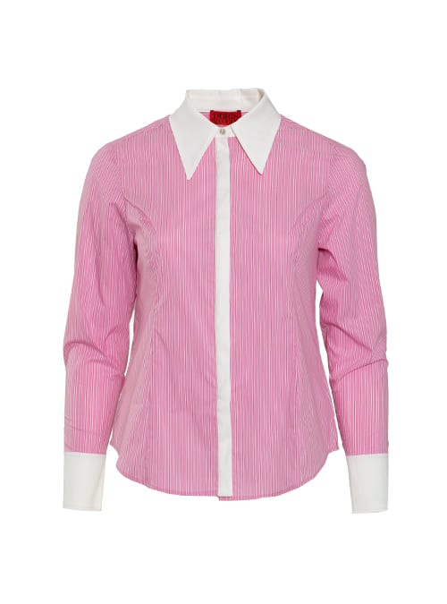 Hemdbluse, Modern business, Pink stripes