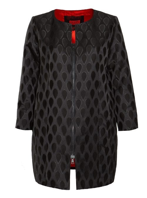 Zip Coat, Official, Rouge Noir