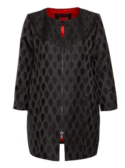 Zip Coat, Official, Rouge Noir
