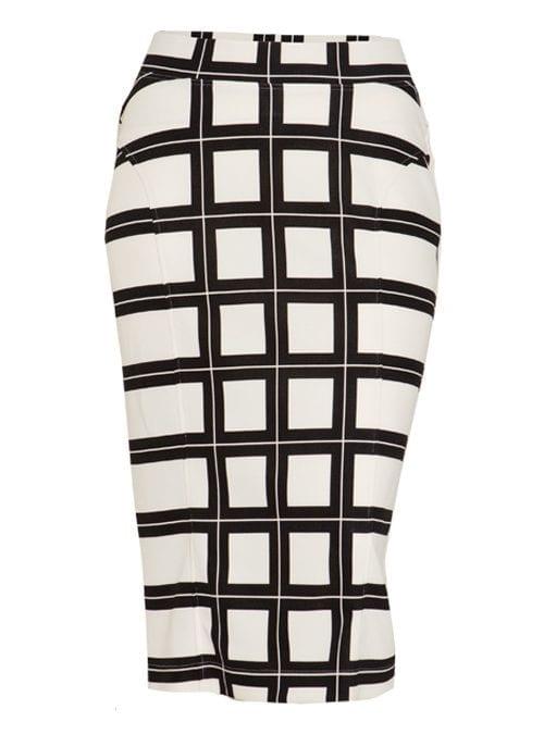 Midi Shape Skirt, Chequers Minimal