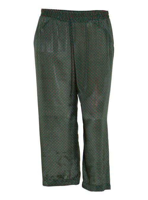 Midi Wide Leg Pants, Silk, Rosso Verde