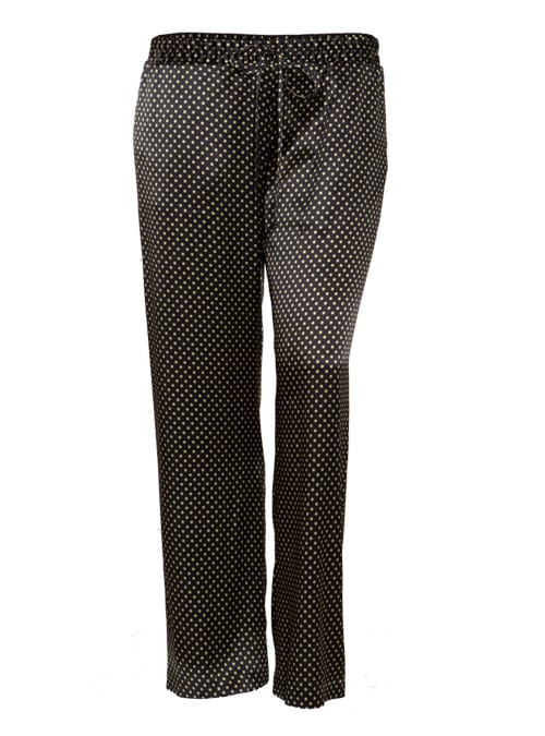 Silk Pants, Punteggiato, Wide Leg
