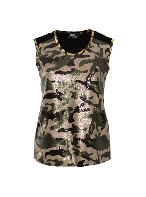 Two-side Top, Camouflage Gloss Sequins