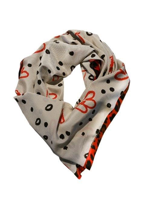 Triangle Silk Scarf, Heart to heart