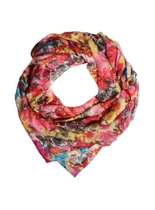 Chiffon Silk Scarf, Blossom Galore