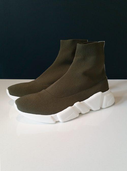 Sock Sneaker, Olive Green