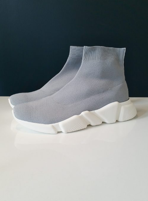 Sock Sneaker, Space Grey
