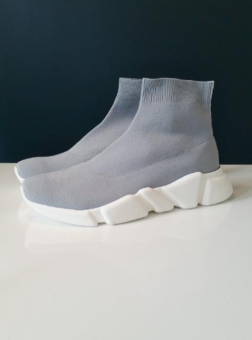 Sock Sneaker, Space Grey