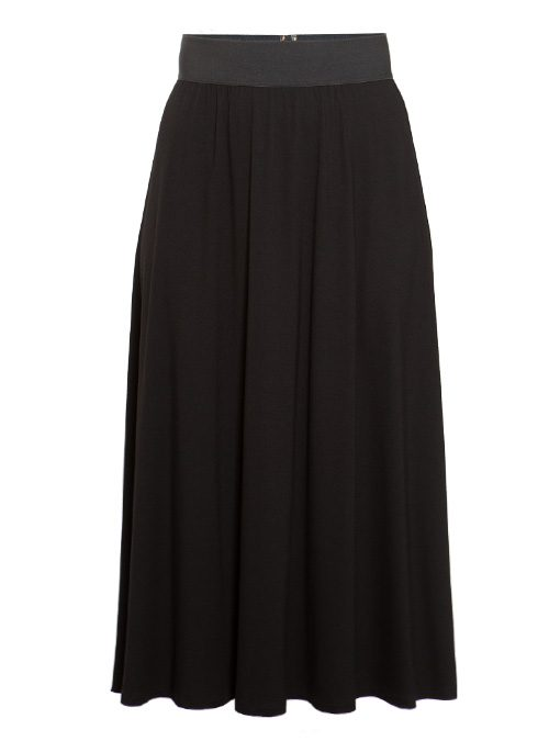 Dream Skirt, Flowy Cut, Black Jersey