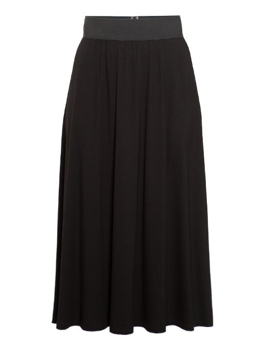 Dream Skirt, Flowy Cut, Black Jersey