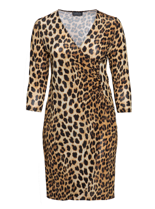 Curvy Wrap Dress Deluxe, Leo Classical, Jersey