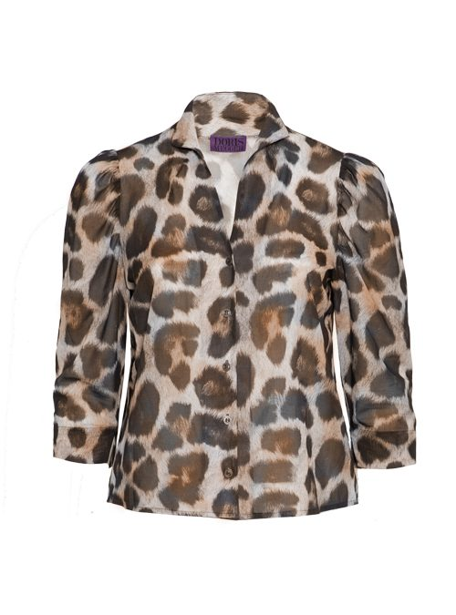 Spot on Sleeve Blouse, Selvatico