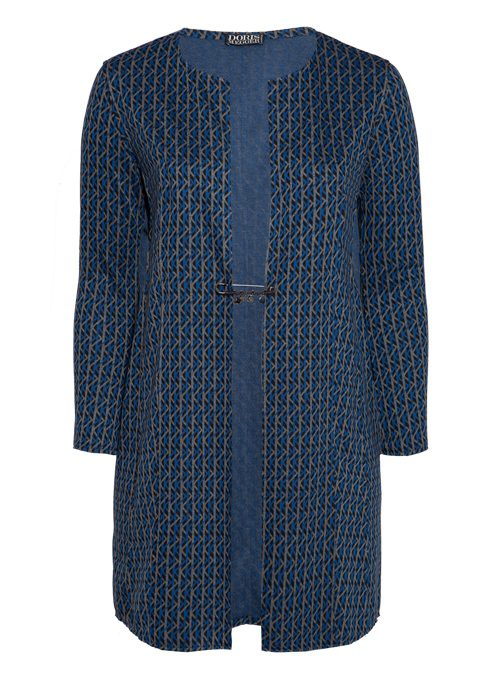 Long Frock Coat, Business Edition, Graphic Jaquard