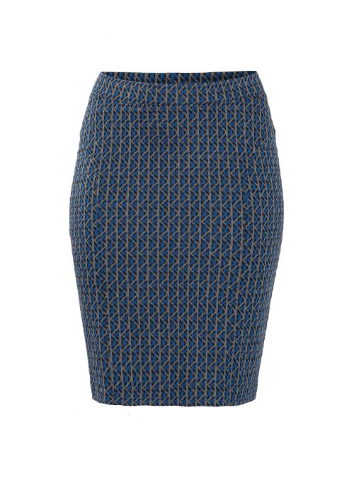 Shape Skirt, Business Edition, Graphic Jaquard