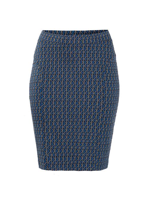 Shape Skirt, Business Edition, Graphic Jaquard
